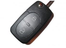 Audi выкидной ключ 2 кнопки. Европа. 1998-2005г. 4D0 837 231 R