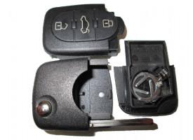 Audi корпус выкидного ключа(3 кнопки)