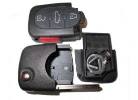 Audi корпус выкидного ключа(3 кнопки+panic)