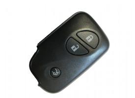Lexus(Лексус) smart ключ 3 кнопки Б/У .Модели: GS450H,LS600Н,600HL до 2008 г.в Голубая эмблема. Для гибридных авто. MDL B53EA,P1-94,433Mhz