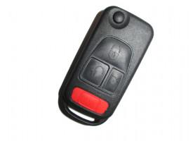 Mercedes(Мерседес) корпус выкидного ключа (3 кнопка+panic) С инфракрасной лампочкой