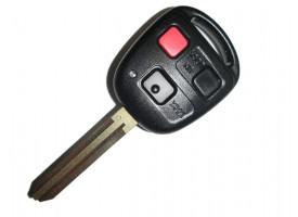 Toyota(Тойота) ключ с дистанционным управлением (3 кнопки). Лезвие TOY 43. Модель LAND CRUISER. США