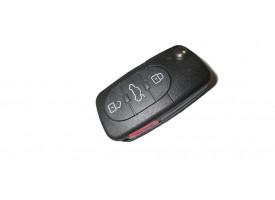 Volkswagen(Фольксваген) выкидной ключ с дистанционным управлением 3 кнопки. До мая 2001г. США. Номер:: 1JO 959 753 F
