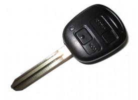 Toyota(Тойота) ключ с дистанционным управлением (2 кнопки), чип 4С. Модель RAV4 до 2004г