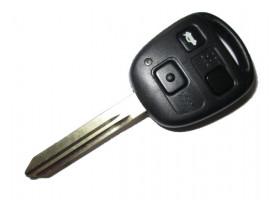 Toyota(Тойота) ключ с дистанционным управлением (3 кнопки), чип 4D-70. Лезвие TOY 47. Модель AVENSIS британской сборки