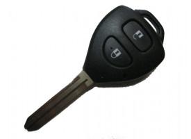 Toyota(Тойота) ключ с дистанционным управлением (2 кнопки), чип 4D-67. Лезвие TOY 43. Модель Rav4 и другие модели до 2010г