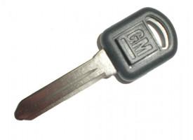 GM заготовка ключа с местом под чип. Лезвие GM39EP