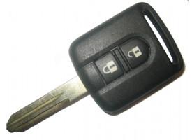 Nissan(Ниссан) ключ с дистанционным управлением 2 кнопки, чип 4D-60. (Чип отдельно)