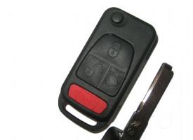 Mercedes(Мерседес) корпус выкидного ключа (3 кнопка+panic)