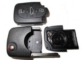 Audi корпус выкидного ключа (3 кнопки) с местом под 1 батарейку