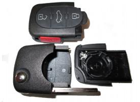 Audi корпус выкидного ключа (3 кнопки+panic), с местом под 1 батарейку