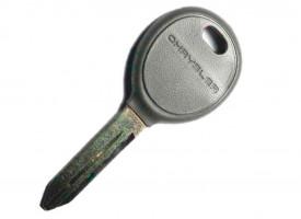 Volga(Волга) Siber заготовка ключа с чипом (чип 4D-64,логотип Chrysler)