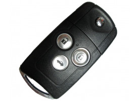 Honda(Хонда) выкидной ключ с дистанционным управлением (3 кнопки), 433Mhz. Модель Accord с 2007-2012г.в